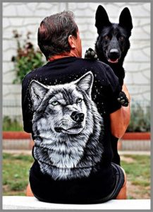 Немецкая овчарка и хозяин