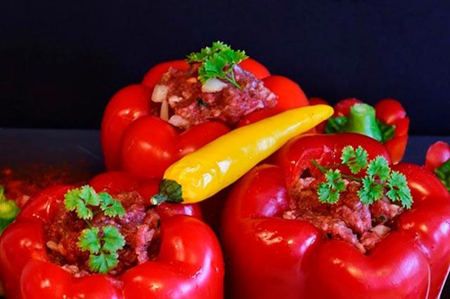 Мясной фарш с овощами